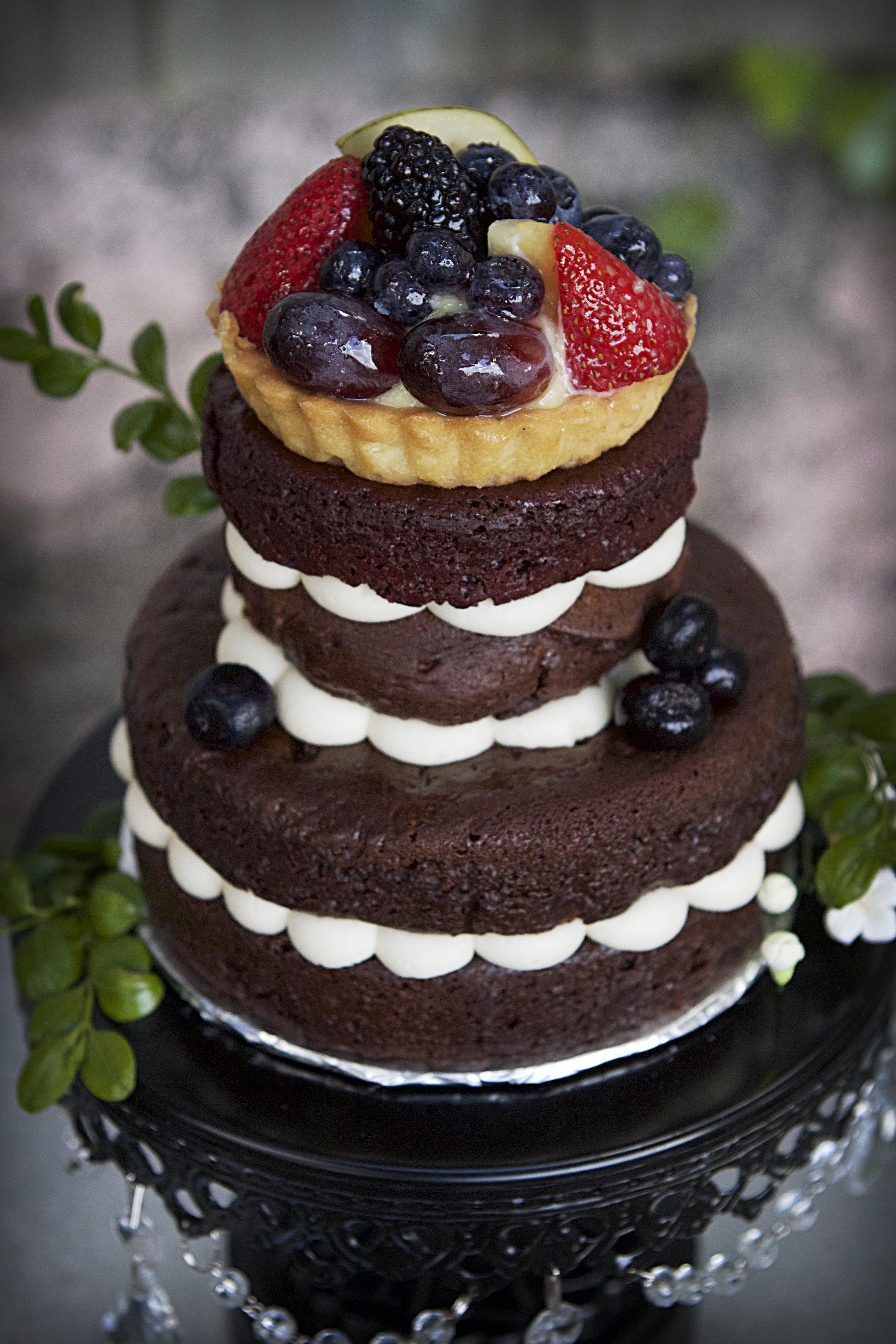 New 3 Naked Wedding Cake 1