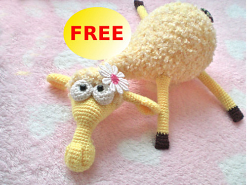 Dolly the Sheep FREE crochet pattern