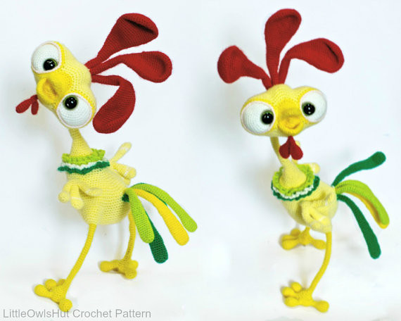 Baby rooster Kubrik toy