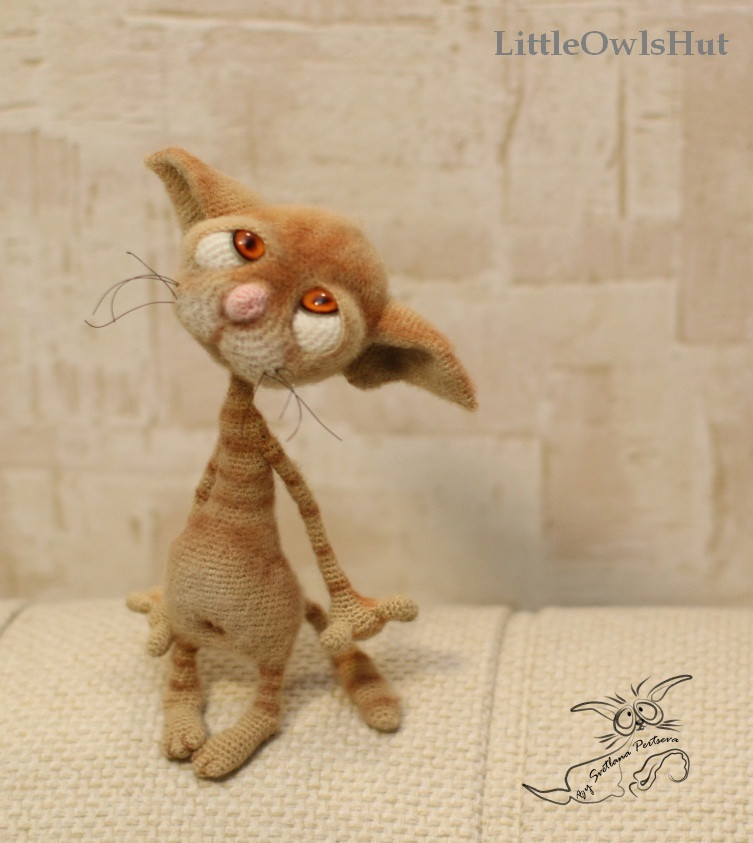 Dobby the sad cat by Pertseva LittleOwlsHut