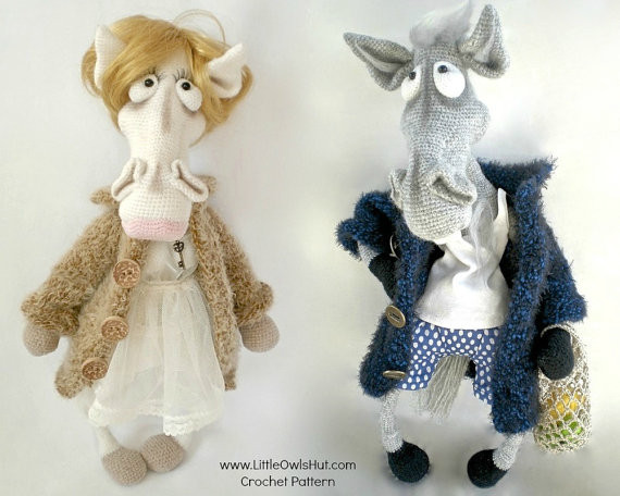 Mr. and Mrs. Horse crochet pattern LittleOwlsHut