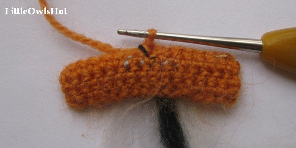 Complete the single crochet with your working yarn.