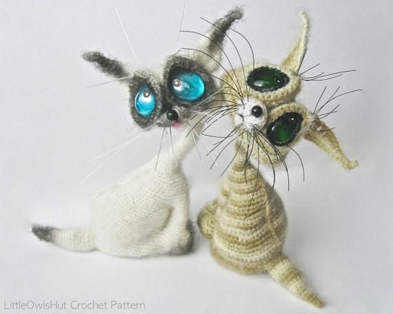 Cat Siam crochet pattern by Svetlana Pertseva LittleOwlsHut