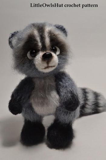 Raccoon crochet pattern LittleOwlsHut by Ogol