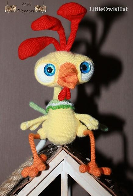 Baby Rooster Kubrik crochet pattern