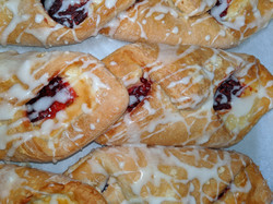 Raspberry and Cream Cheese filled Croissant