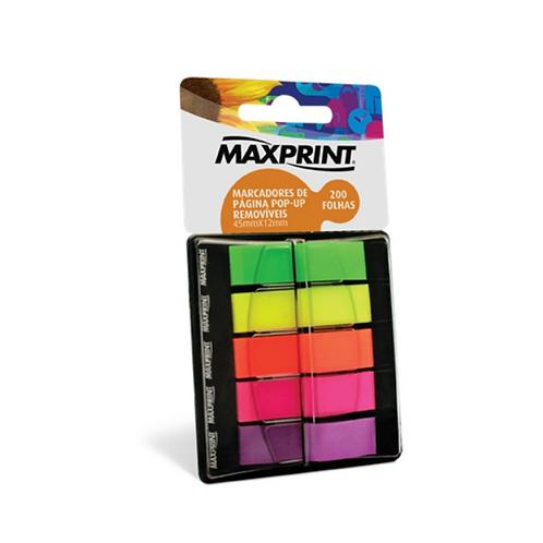 Marcador de Página Maxprint 5 cores