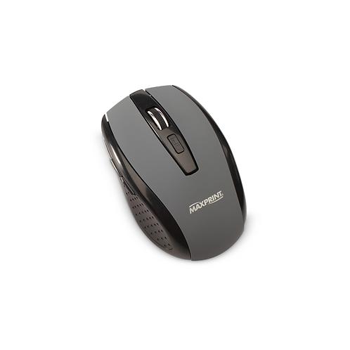 Mouse Maxprint Emborrachado s/Fio - 800 a 1200 DPI - Preto