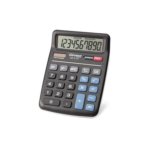 Calculadora de Mesa Maxprint - MX-C101 - Preta