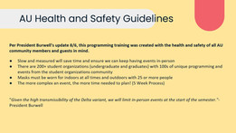 AU Health & Safety Guidelines