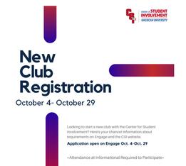 New Club Registration (Fall 2021)