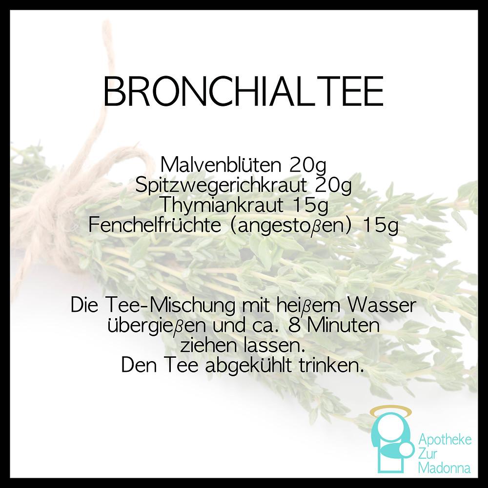 Rezept receipt Bronchialtee Tee tea bronchia