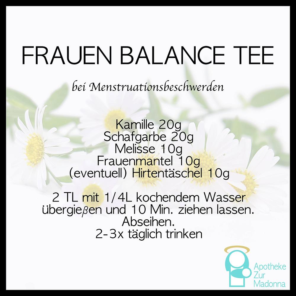 Rezept receipt Frauen Balance Tee women balance tea