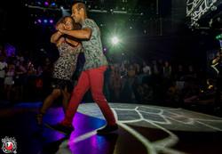 Juliana dancing with Carlos Frevo