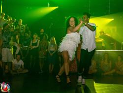 Juliana dances samba with Gabriel
