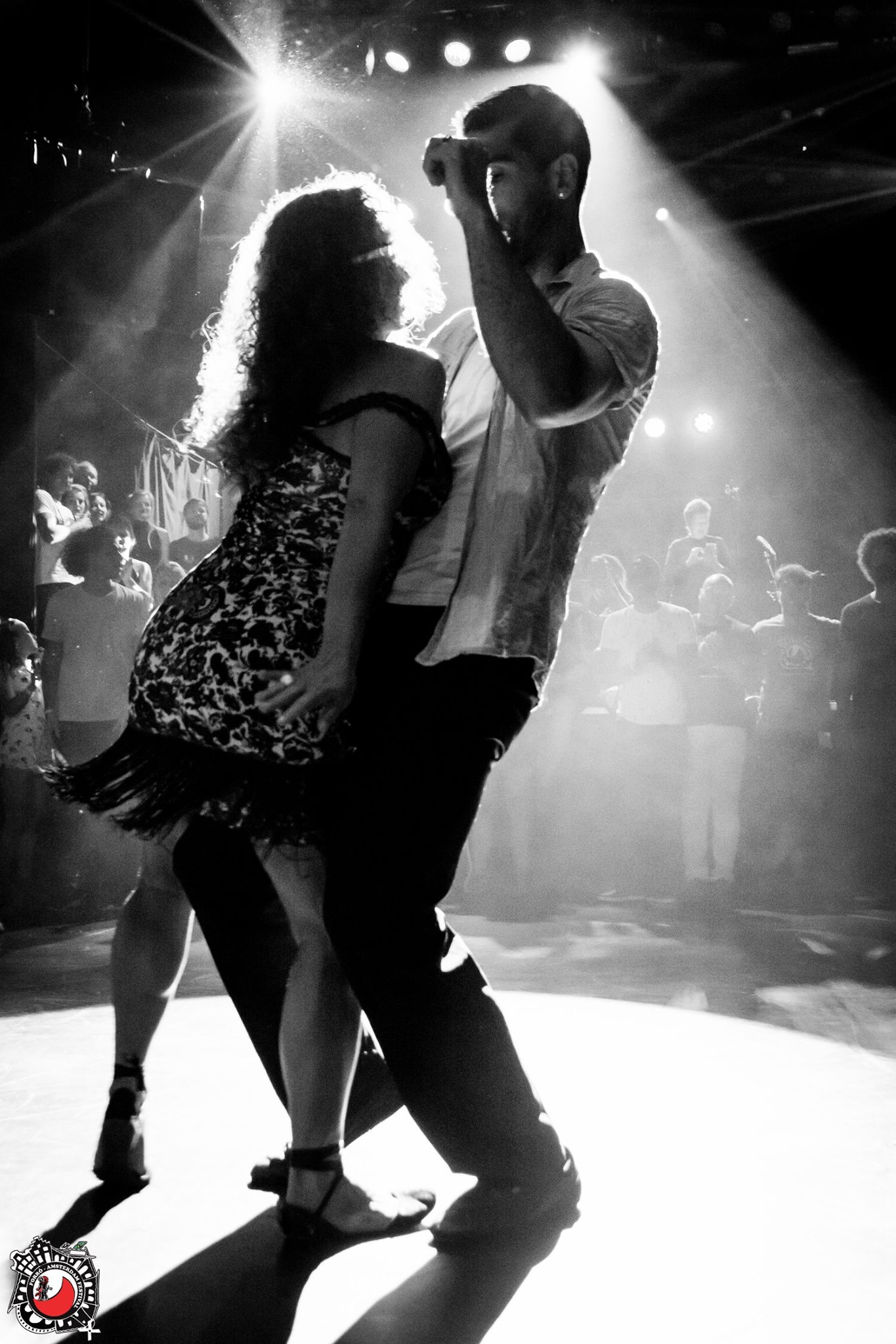 Juliana dancing with Bruno Prado