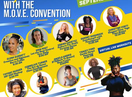 Register For The 100% Virtual M.O.V.E Dance & Fitness Convention, September 18th-20th, 2020