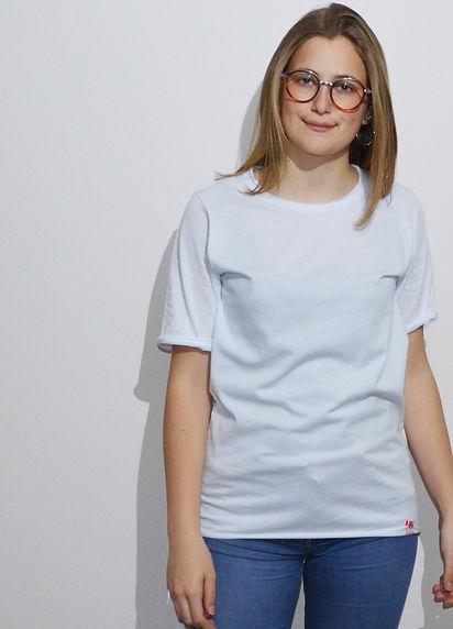 maglietta oversize bianca 2  fronte indo