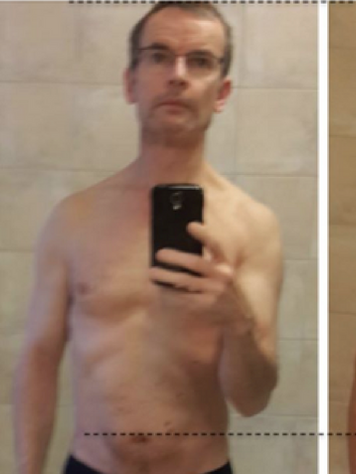 3 years after my back injury (left) and 4 months training with AMP (right)