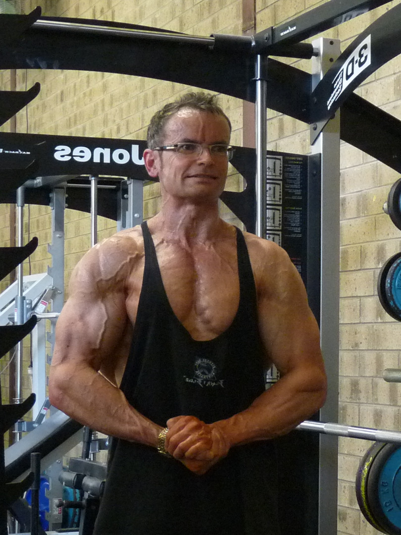 Off-season, 4 months after INBA '09 Mr. Olympia