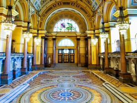 See the Minton floor at St George's Hall