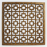 Arabic-inspired patterns made from reclaimed wood  Standard size:  10cmx10cm ; 15cmx15cm   All tiles can be personalized and produced in different sizes and materials     