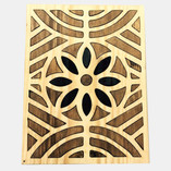Arabic-inspired patterns made from reclaimed wood  Standard size:  10cmx15cm   All tiles can be personalized and produced in different sizes and materials     