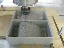 CNC milling, OMA, fablab, Lisbon, mandala, molding, casting, madre,