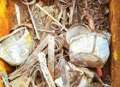 A sample of metal junk