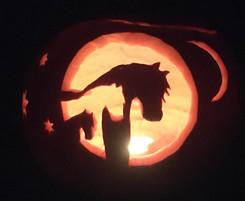 Horse & Heart Pumpkin