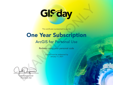 Win your own ArcGIS for Personal Use...
