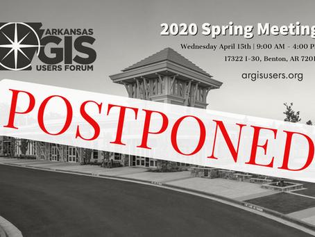 2020 Arkansas GIS Spring Meeting | Postponed
