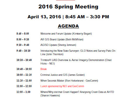 2016 Spring Meeting Agenda Now Available