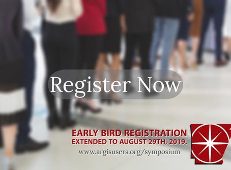 Early Bird Registration Deadline Extended