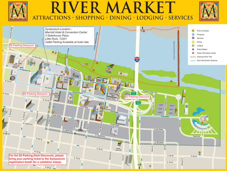 Area Map & Parking Info for the 2015 Arkansas GIS Symposium