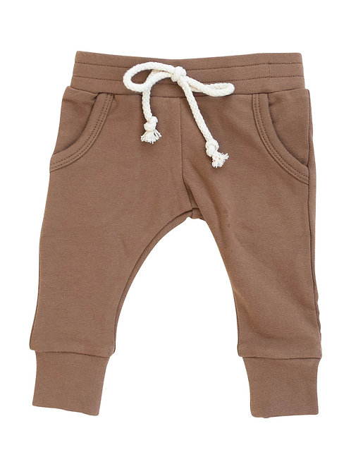 French Terry Jogger Pants - Camel