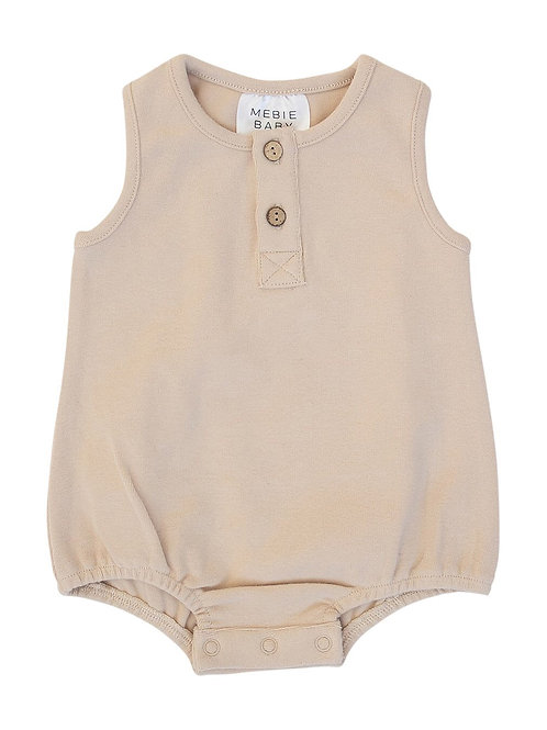 Oat Button Bubble Romper