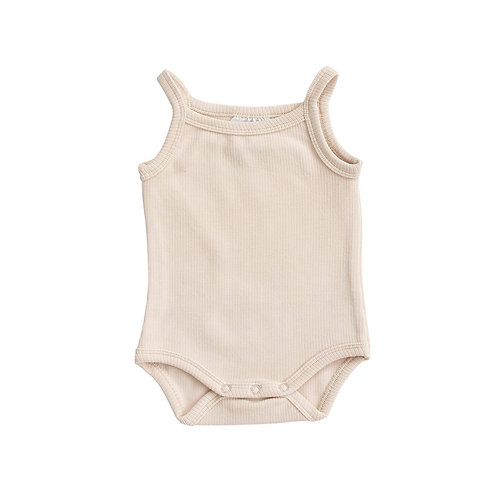 Cream Tank Ribbed Bodysuit