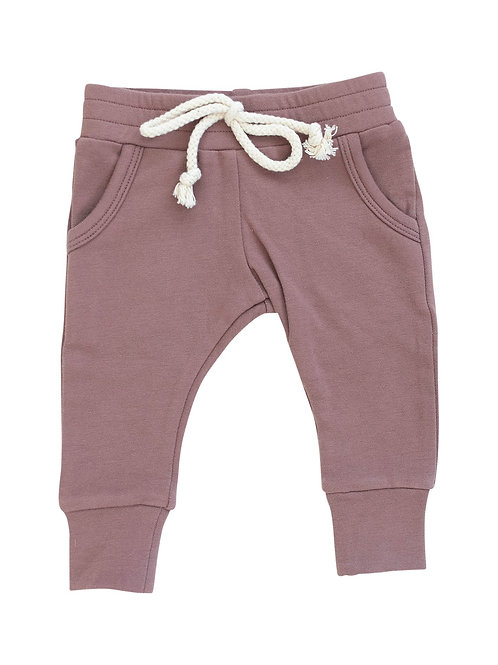 French Terry Jogger Pants - Dusty Rose