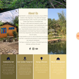 04 - We have designed the website for Kumaon'Maati', which offers specially curated nature