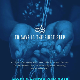 22nd March is World Water Day.__A day to remind us that Rivers and reservoirs are drying l