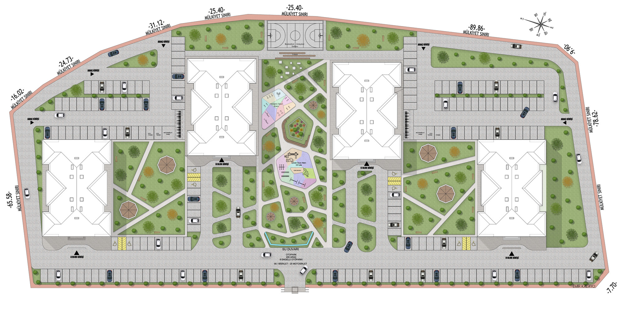 Ihlamur Kent Site Peyzaj Tasarımı