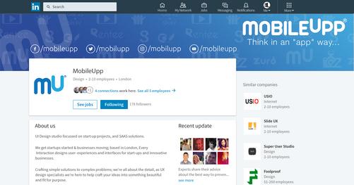 MobileUpp | LinkeIn Sayfa Tasarımı