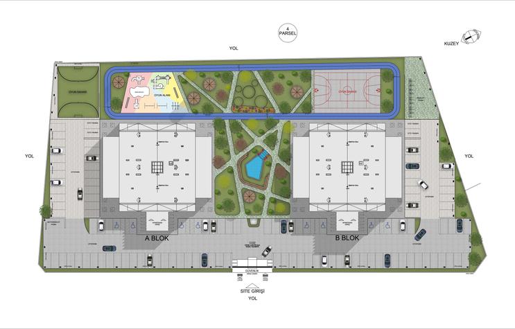 Çavdar Towers Vaziyet Planı Tasarımı