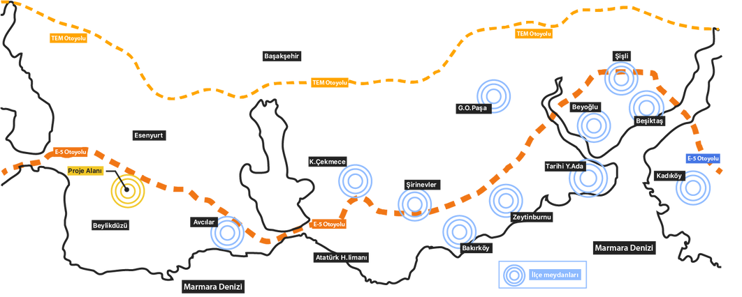 İstanbul Ulaşım Haritası