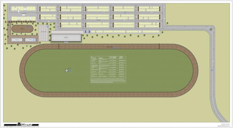 Çavdar Rahvan At Yarışları Vaziyet Planı Tasarımı