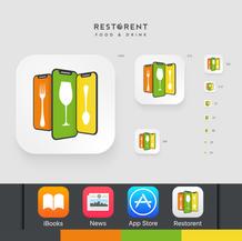 Restorent App | Launcher Icon Set