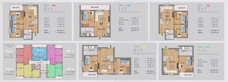 M Yapı | Kat Planları Katalog Tasarımı