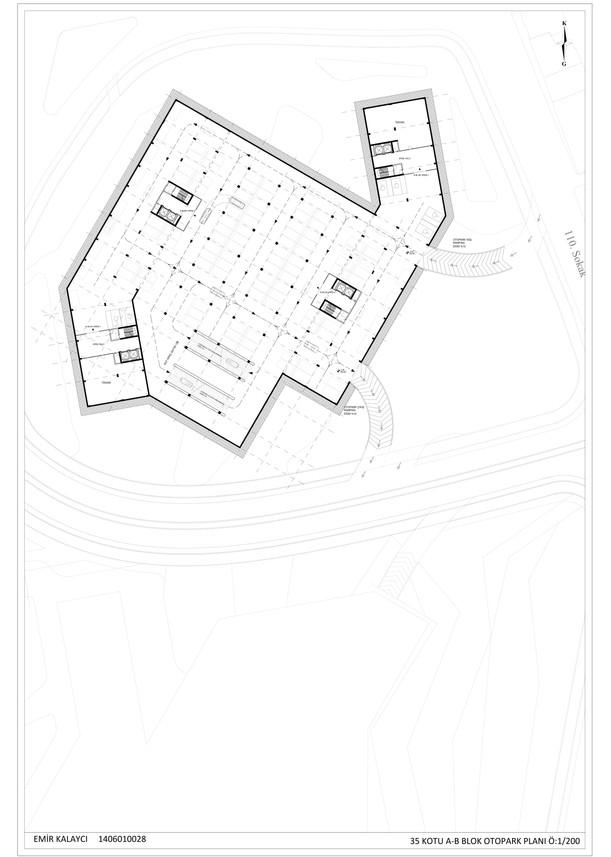 A-B Blok Otopark Planı Ö:1/200