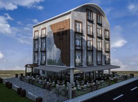 Grand Ege Otel Binası Sol Ön Cephe